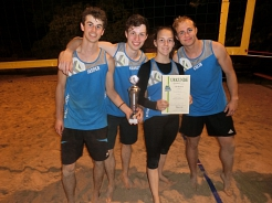 Beachvolleyballer Siegerteam © SJB Binnen