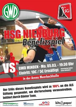 Benefizspiel HSG Nienburg gegen GWD Minden©SJB Binnen
