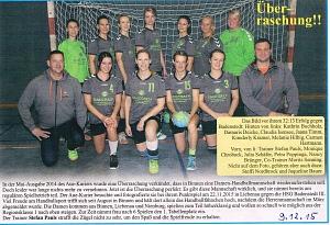 Handball Frauen Mannschaft