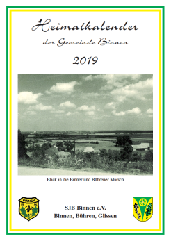 Heimatkalender 2019©SJB Binnen