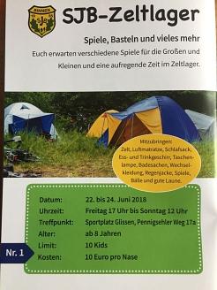 Kinderzeltlager 2018 in Glissen©SJB Binnen