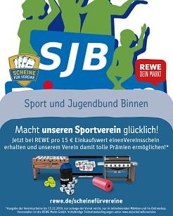 """REWE Aktion """"Scheine für Vereine""""©SJB Binnen"""