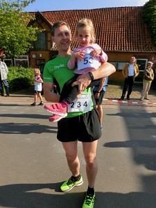 schnellster Binner Thomas Braun mit Tochter Lynn