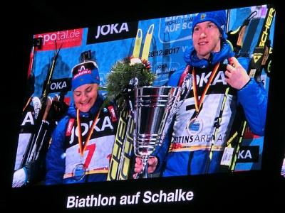 Biathlon World Team Challenge auf Schalke 2017