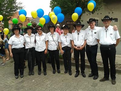 Country Linedancer des SJB nehmen am Schützenfest Liebenau teil