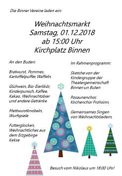 Weihnachtsmarkt 2018©SJB Binnen